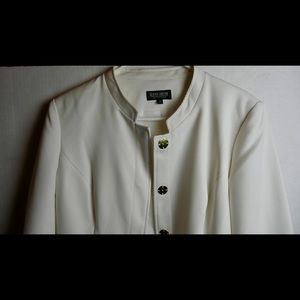 John Meyer Outfit Dress And Coat Sz 8 White/Cream
